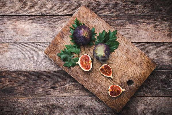 Vágódeszka fa asztal őszi idény étel fotó fa Stock fotó © Arsgera
