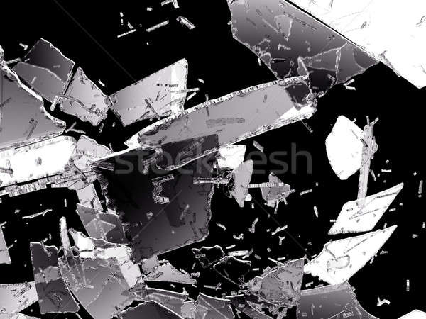 Damaged and Shattered glass on black Stock photo © Arsgera