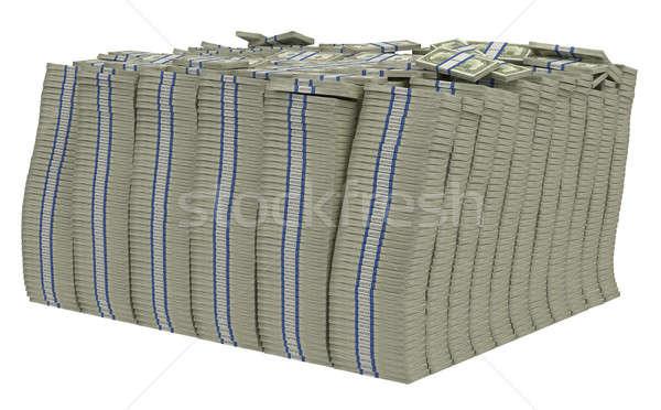 Large bundle of US dollars isolated Stock photo © Arsgera