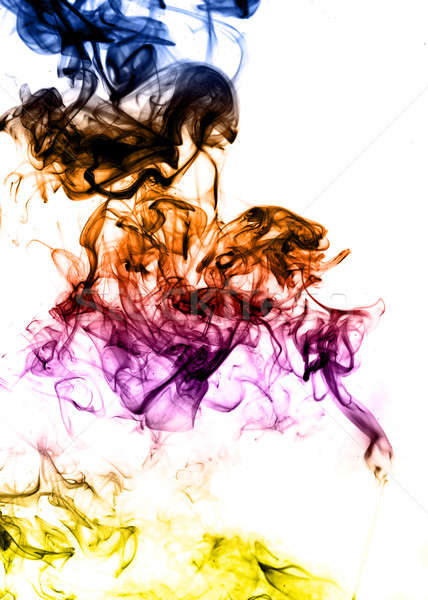 Colored Abstract fume on the white background  Stock photo © Arsgera