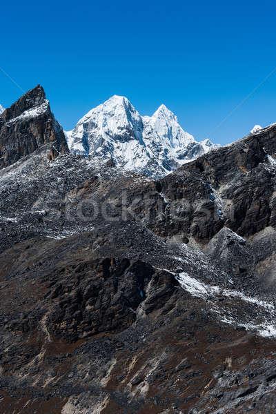 Mountain range scene viewed from Renjo pass in Himalaya Stock photo © Arsgera