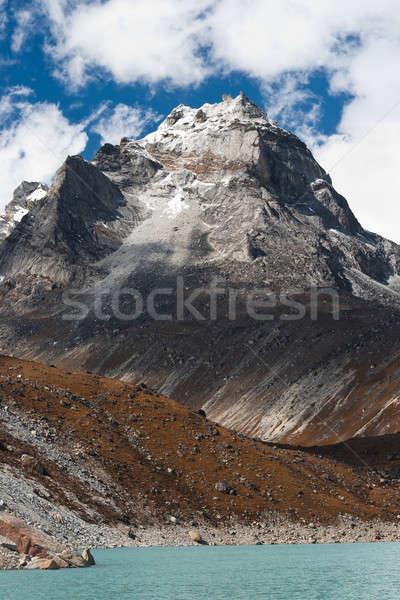 Szent tó Himalája égbolt víz tájkép Stock fotó © Arsgera