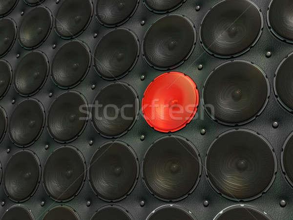 Unique sound: unique speaker among common ones Stock photo © Arsgera