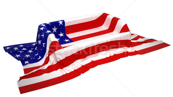 Showcase stand covered with USA flag Stock photo © Arsgera