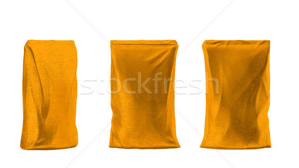 Golden sacking package for coffee or tea Stock photo © Arsgera