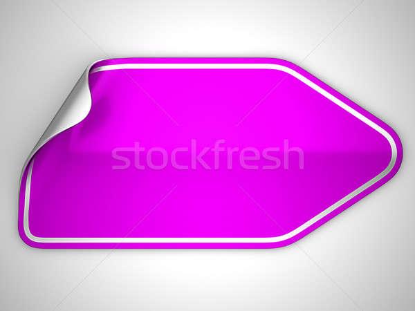 Magenta vignette étiquette gris place lumière Photo stock © Arsgera