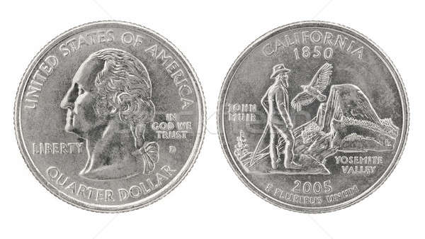 Quarter Dollar California Stock photo © Arsgera
