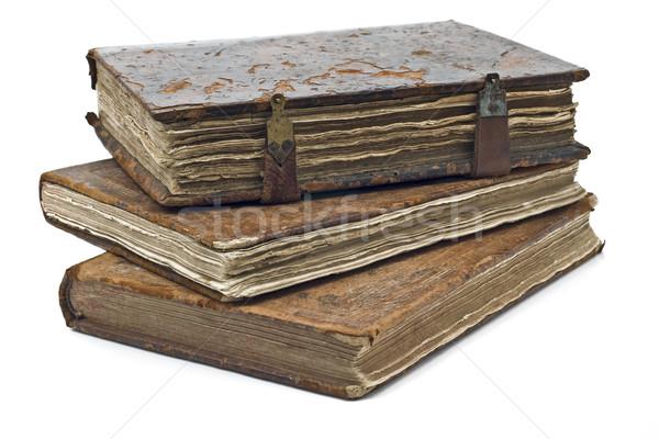 Old frayed books isolated Stock photo © Arsgera