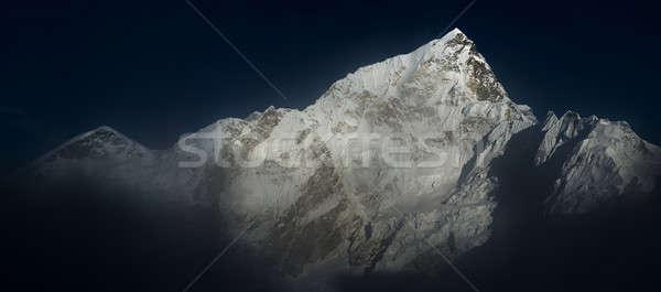 Everest gün batımı panoramik görmek gökyüzü dağ Stok fotoğraf © Arsgera