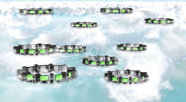 Cloud computing concept Stock photo © Arsgera