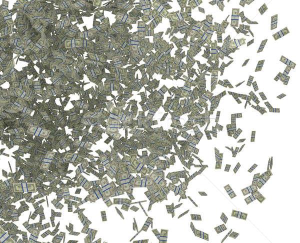 US dollar bundles falling down Stock photo © Arsgera
