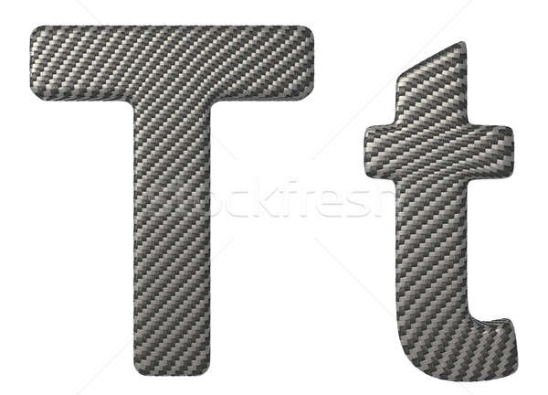 Carbon fiber font T lowercase and capital letters Stock photo © Arsgera