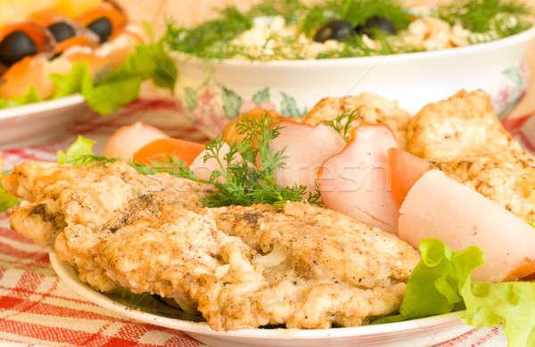 ízletes bankett étterem étel asztal szolgáltatás Stock fotó © Arsgera