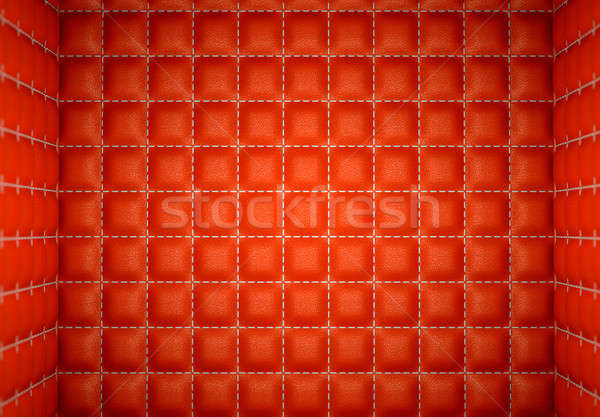 segregation or Isolation: Red stitched leather mattresses Stock photo © Arsgera