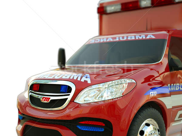 Ambulance: Closeup view of emergency services vehicle on white Stock photo © Arsgera
