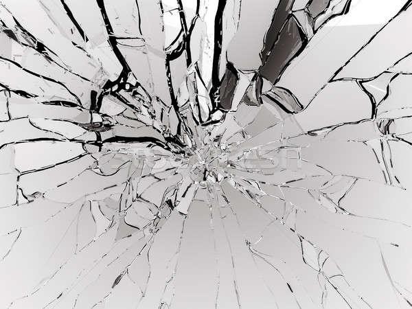 Foto d'archivio: Bianco · vetro · isolato · nero · abstract · design