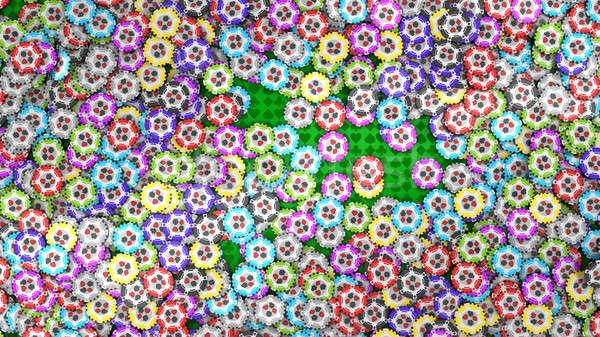 カジノ ルーレット チップ 緑 表 その他 ストックフォト © Arsgera