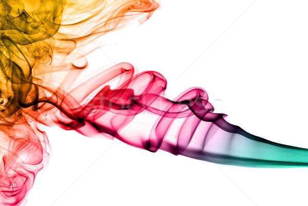 Stock photo: colored fume abstract pattern