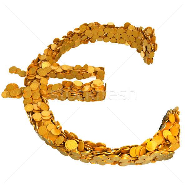Zdjęcia stock: Euro · waluta · symbol · monet · odizolowany · biały