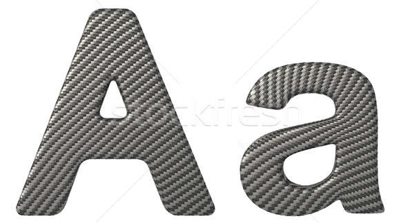 Carbon fiber font A lowercase and capital letters Stock photo © Arsgera