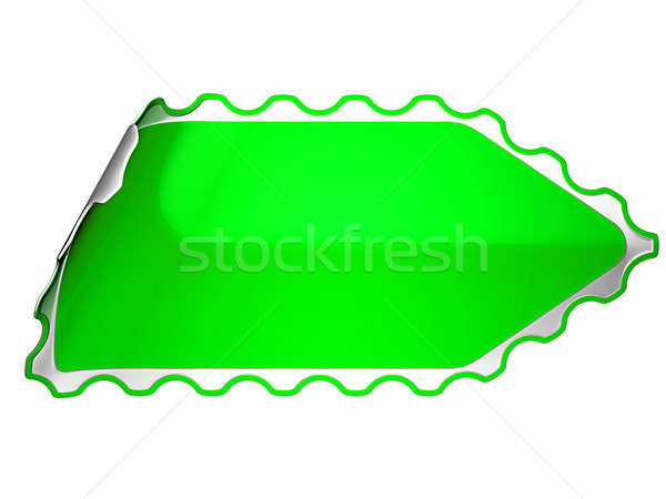 Green jagged sticker or label  Stock photo © Arsgera