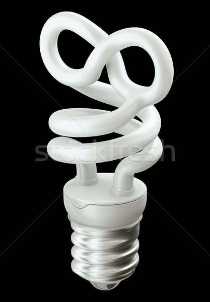 Eternity symbol light bulb isolated on black Stock photo © Arsgera