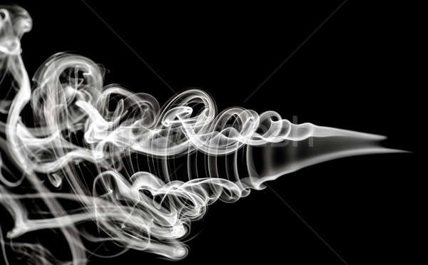 White Abstraction: magic smoke pattern on black Stock photo © Arsgera
