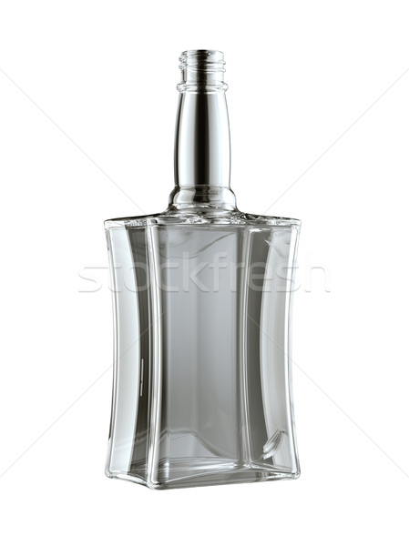 Empty bottle for rum or whisky isolated Stock photo © Arsgera