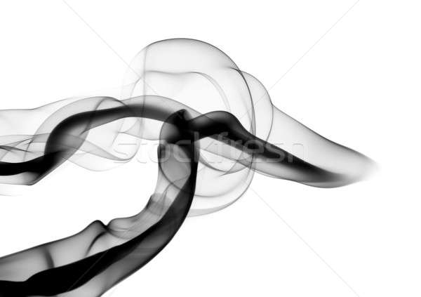 Black Abstract fume waves on white Stock photo © Arsgera