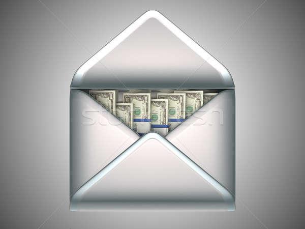 money transfer - US dollars in opened envelope Stock photo © Arsgera