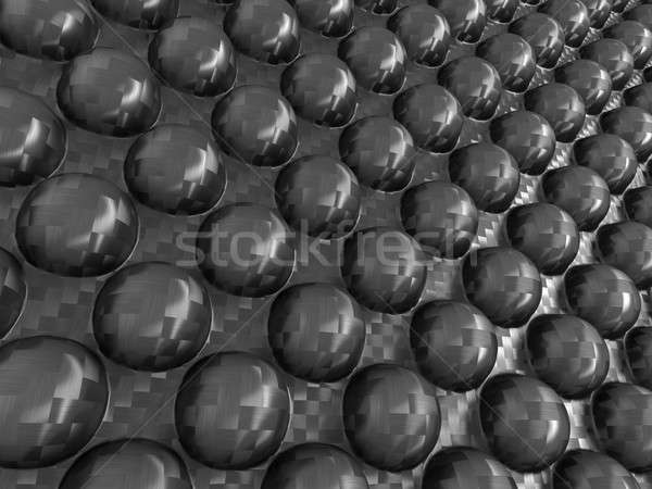 Abstraction: Carbon fibre with pimples Stock photo © Arsgera