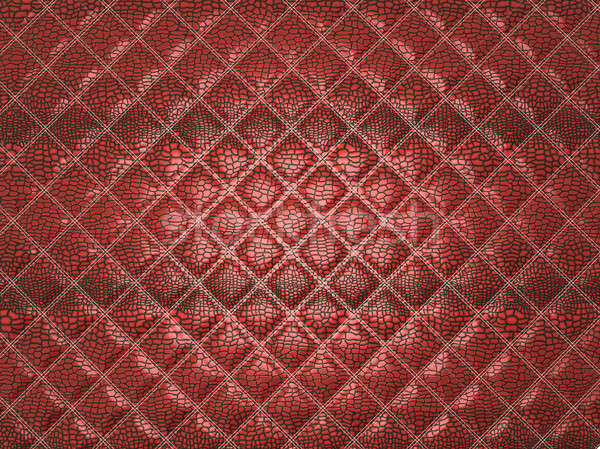 Red Alligator stitched skin. Useful as texture Stock photo © Arsgera