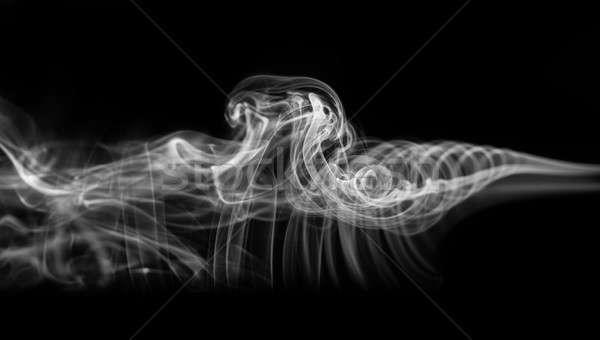 Abstração branco místico fumar padrão preto Foto stock © Arsgera