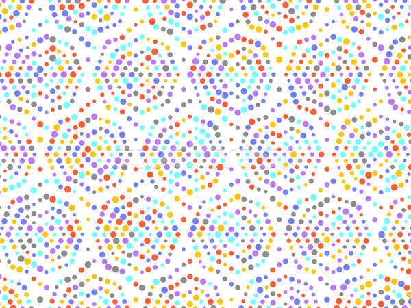 Polka dot spiral pattern with red yellow grey purple blue circle Stock photo © Arsgera
