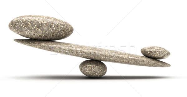 Kavics stabilitás mérleg nagy kicsi kövek Stock fotó © Arsgera