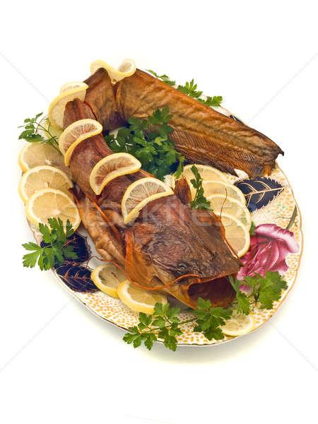 Catfish or sheatfish with lemon and parsley  Stock photo © Arsgera