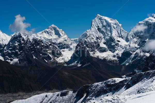 Makalu, Cholatse summits viewed from Renjo Pass Stock photo © Arsgera