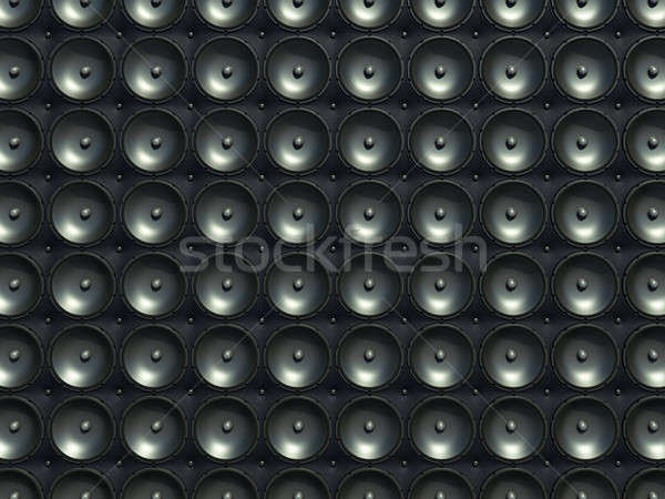 Suono stereo nero altoparlanti pelle pattern Foto d'archivio © Arsgera