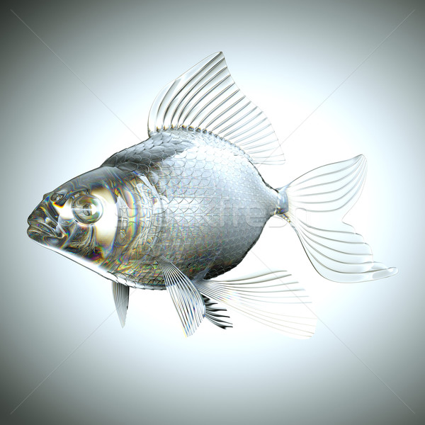 Glassy fish with scales and fins Stock photo © Arsgera
