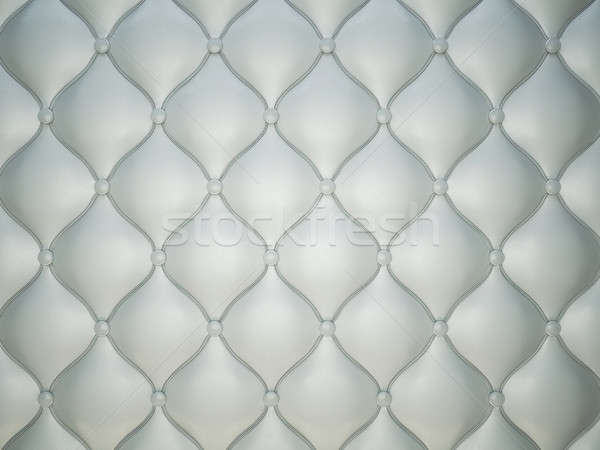Grey stitched leather pattern with buttons and bumps Stock photo © Arsgera