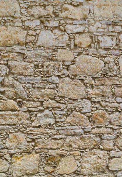 Eski taş duvar doku büyük karar inşaat Stok fotoğraf © Arsgera