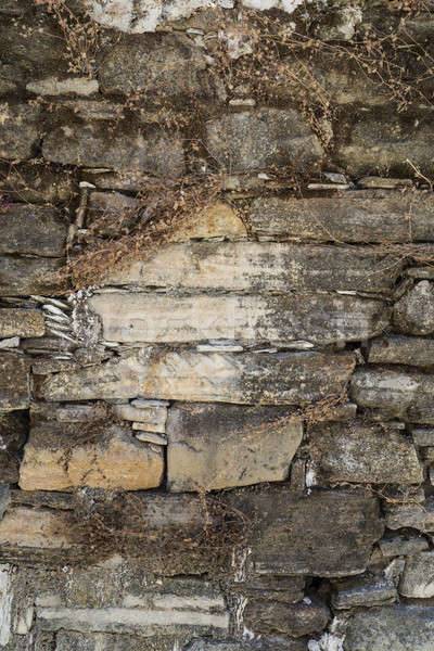 Old weathered stone wall texture or background Stock photo © Arsgera