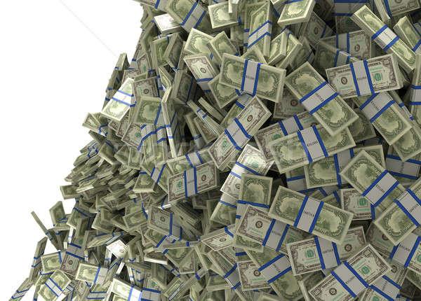 Much money and wealth. US dollar bundles falling Stock photo © Arsgera