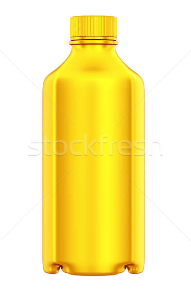 Golden bottle for chemicals or drugs isolated Stock photo © Arsgera