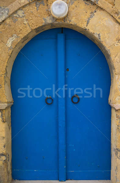 Traditional blue arched door from Sidi Bou Said  Stock photo © Arsgera