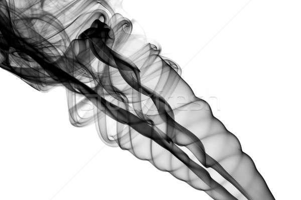 Abstract black fume waves on white Stock photo © Arsgera
