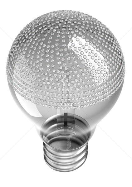 Lampadina diamanti bianco luce sfondo energia Foto d'archivio © Arsgera