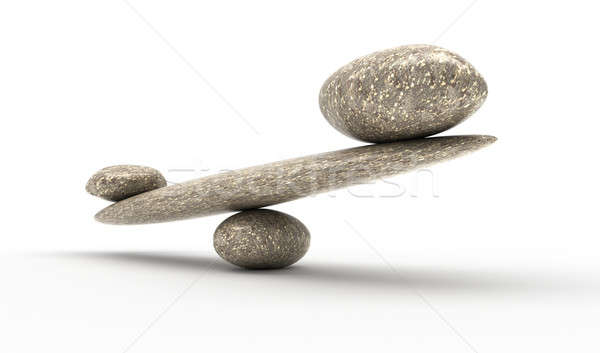 Weighty argument: Pebble stability scales with stones Stock photo © Arsgera