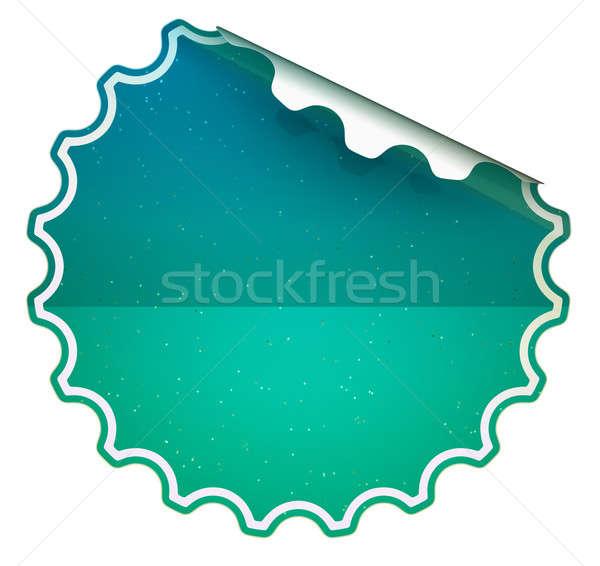 Seagreen round bent sticker or label  Stock photo © Arsgera