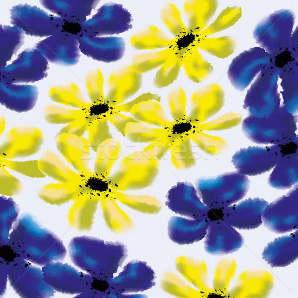 Forget-me-not and cinquefoil floral pattern Stock photo © Arsgera
